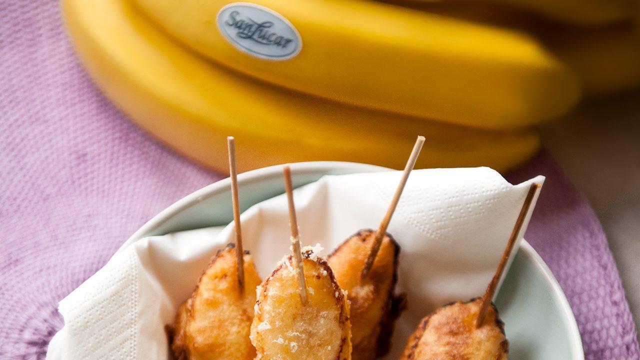 Pincho delicioso: snack de plátano y queso