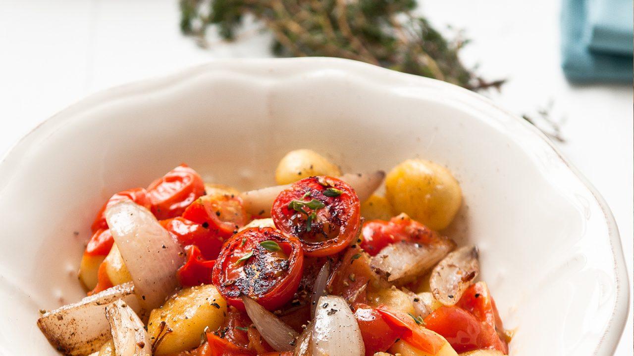 Genießer Pfanne mit Tomaten und Gnocchi