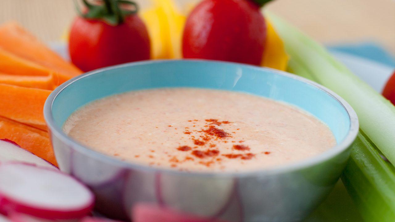 Würziger Paprika Joghurt Dip