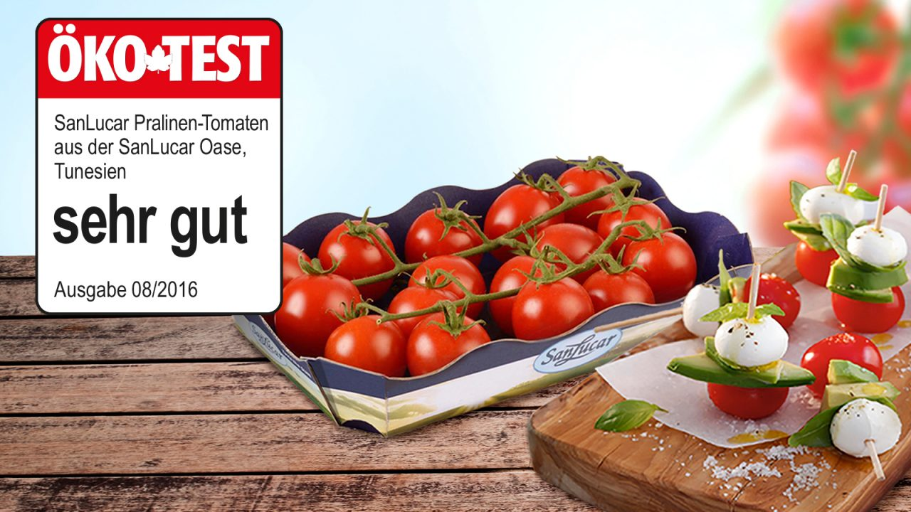 San Lucar praline tomatoes achieve top results from Ökotest magazine