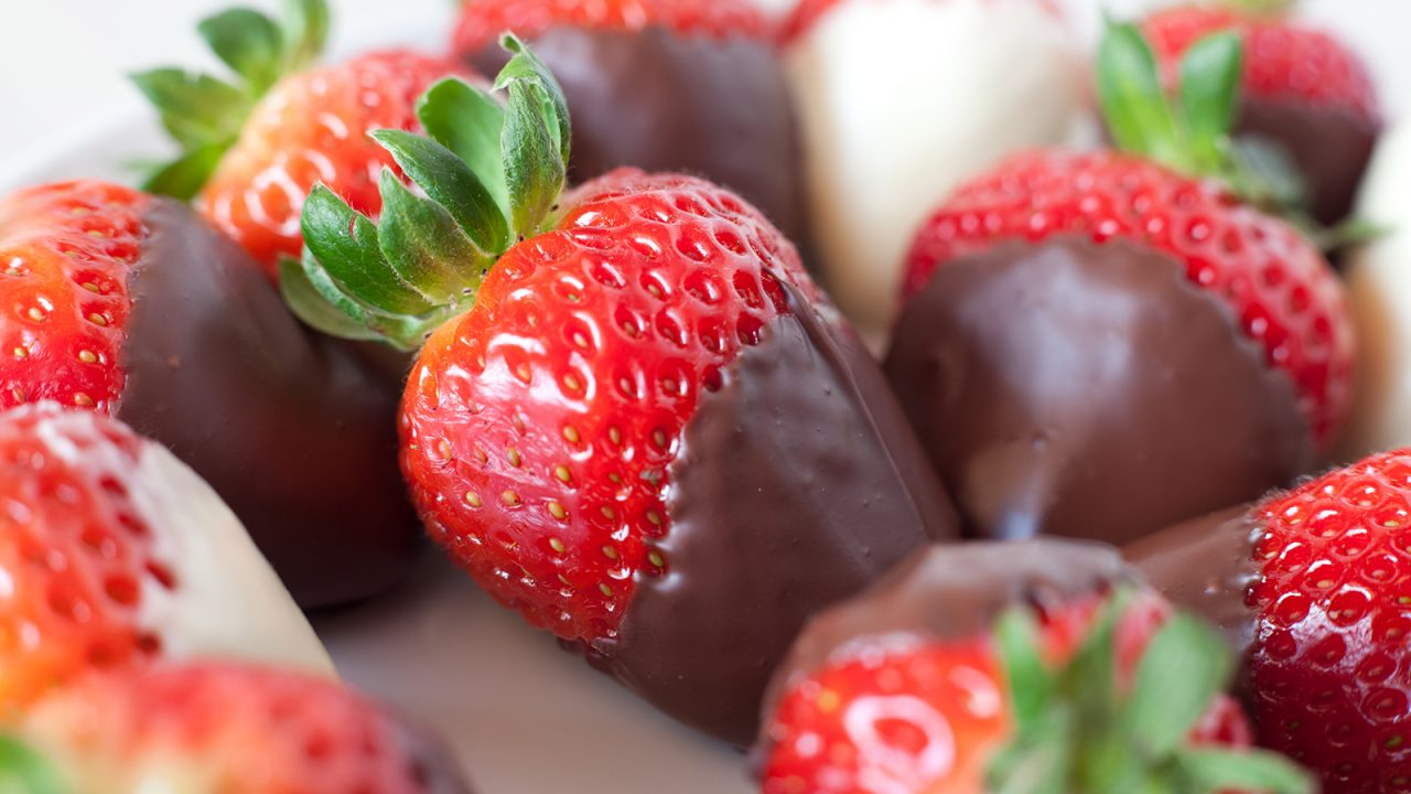 Strawberries in a chocolate blanket