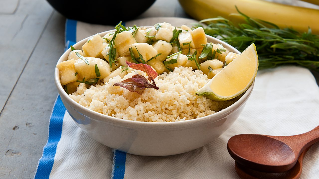 Banana couscous salad