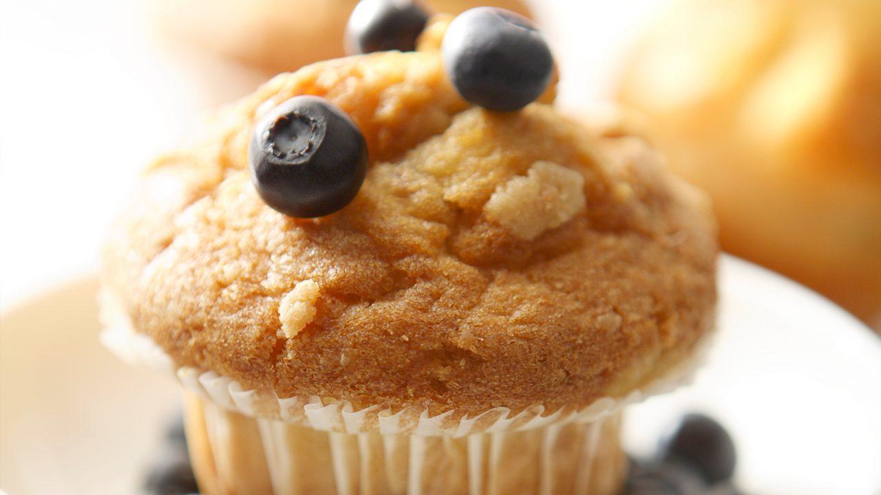 Grandma's blueberry muffins