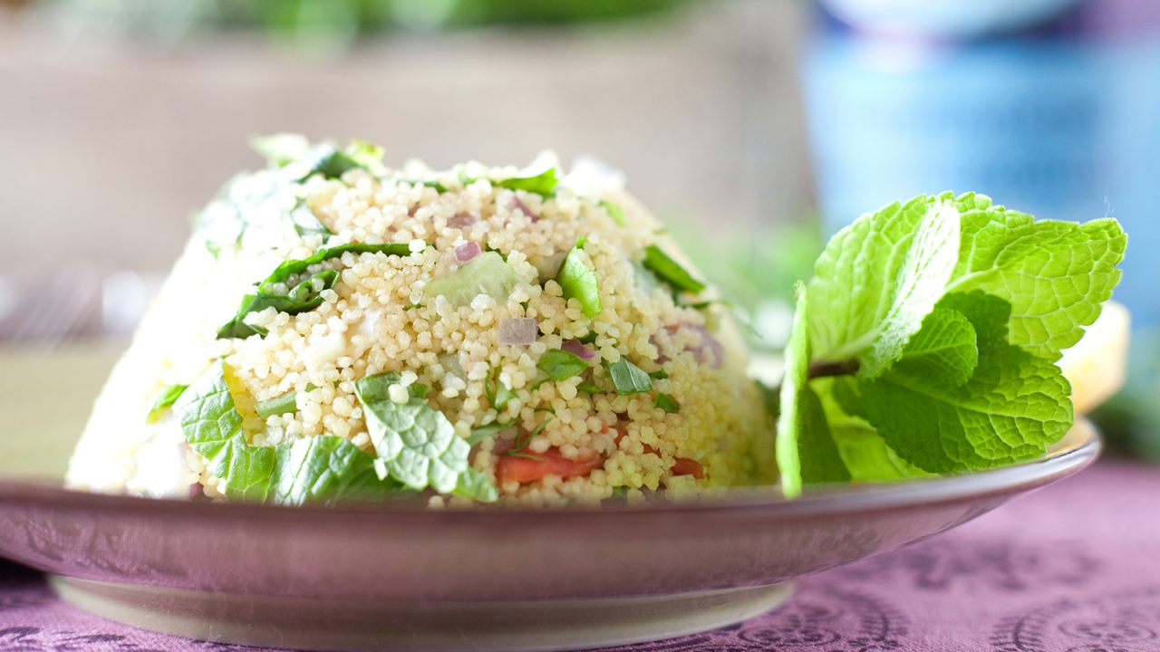 Couscous salad with herbs