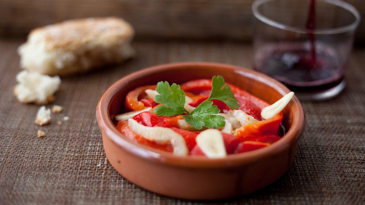 Valencian summer: Bell pepper esgarraet