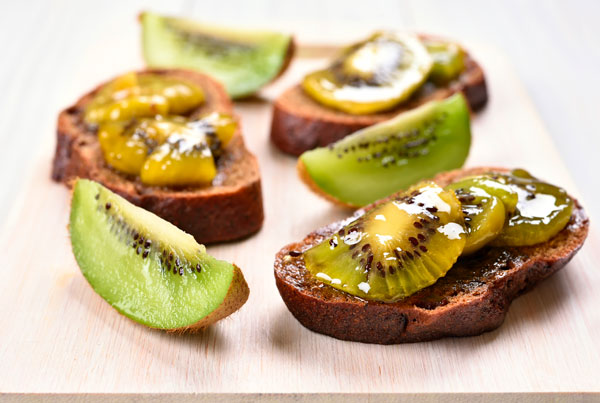 Exotic fresh spreads: Kiwi and Pineapple Jam