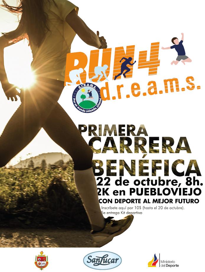 Run4d.r.e.a.m.s.: ven y corre con nosotros en Ecuador