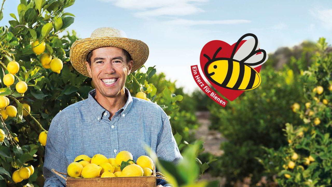 Ein Herz für Bienen und essbare Schale