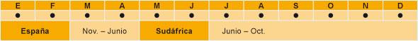 gráfico de la temporada de las naranjas de mesa