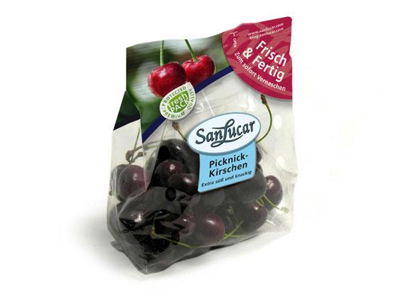 Picknick-Kirschen von SanLucar kommen in der 250 g Tüte zu Ihnen