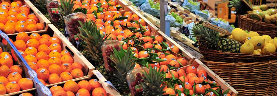 clementinas en el supermercado